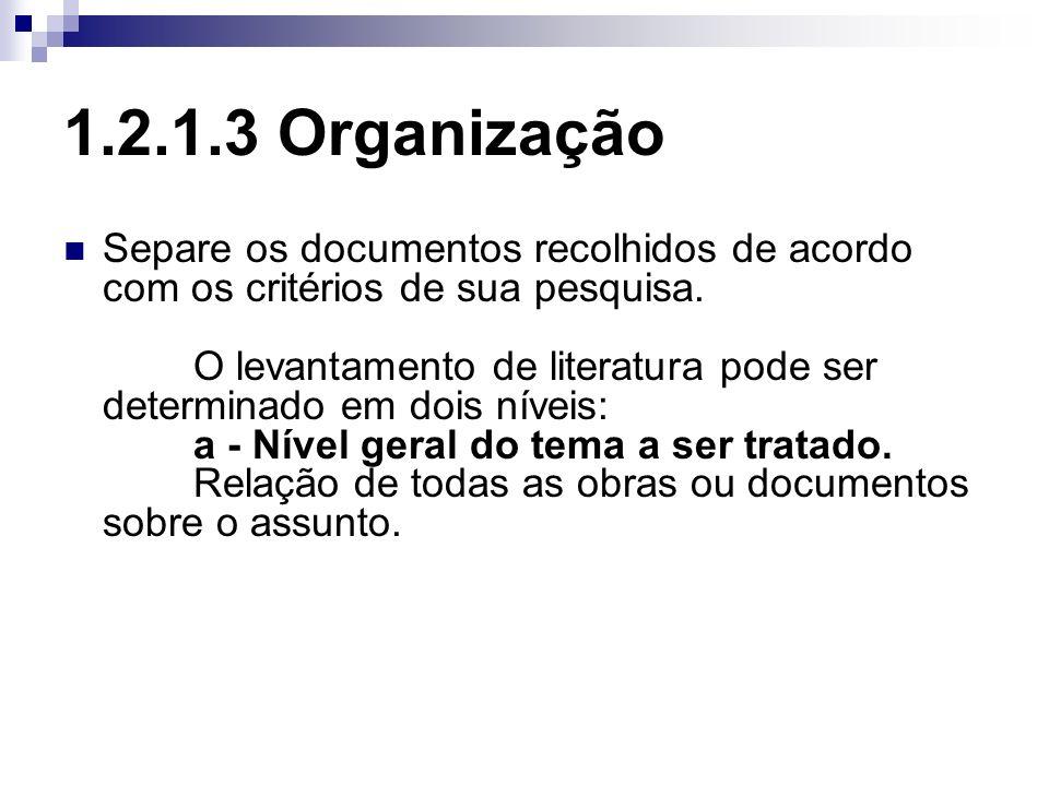 1.2.1.3 Organização