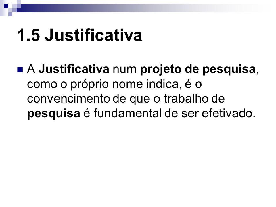 1.5 Justificativa
