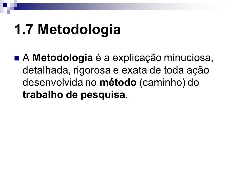 1.7 Metodologia