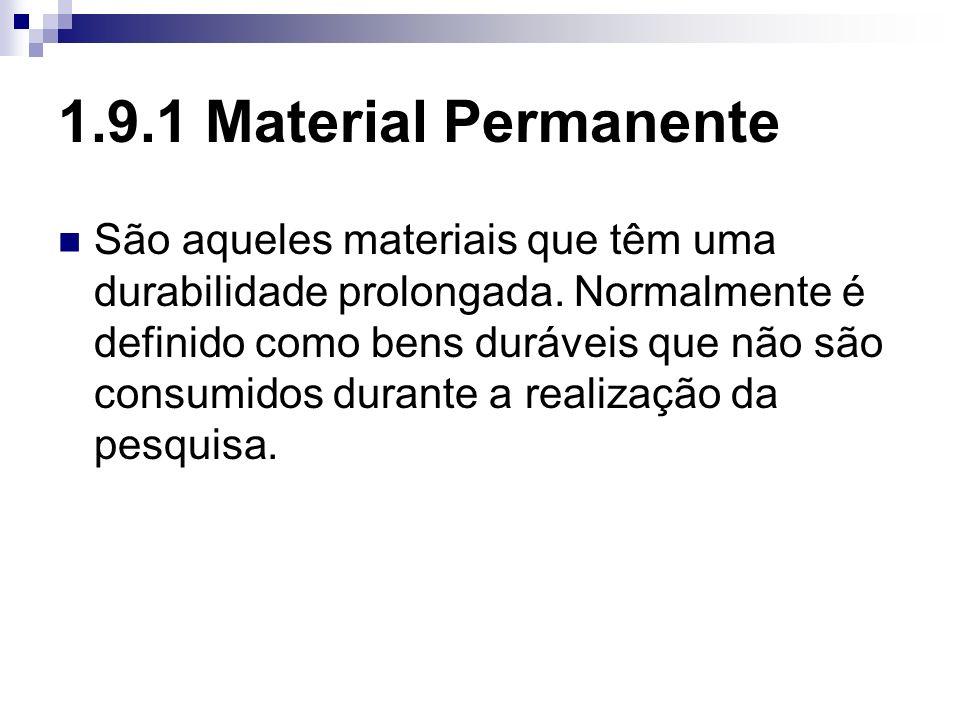 1.9.1 Material Permanente