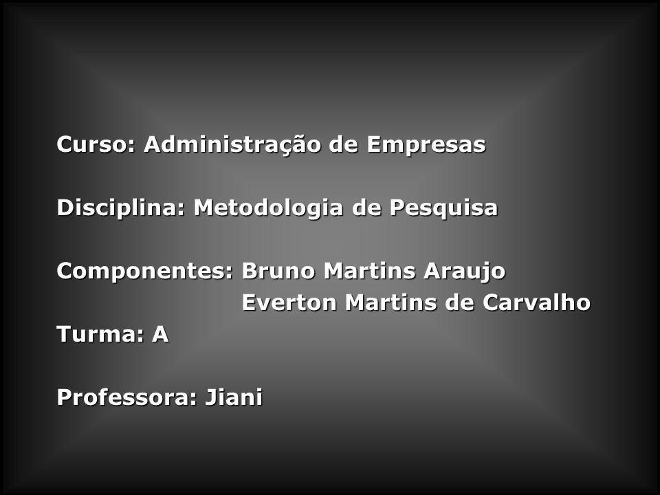 Curso: Administração de Empresas