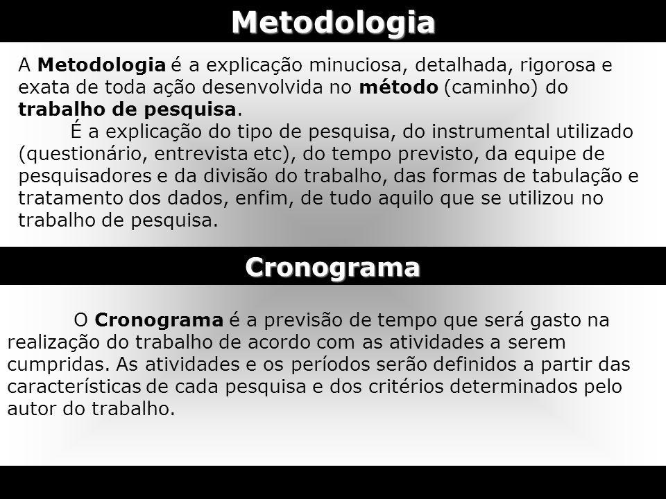 Metodologia Cronograma