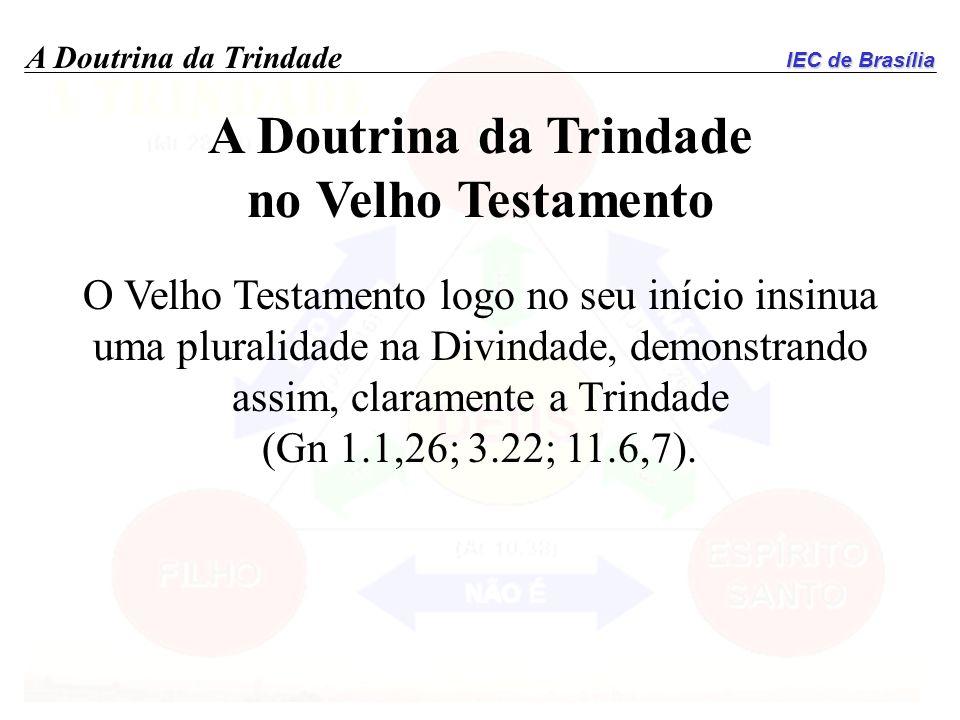 A Doutrina da Trindade no Velho Testamento