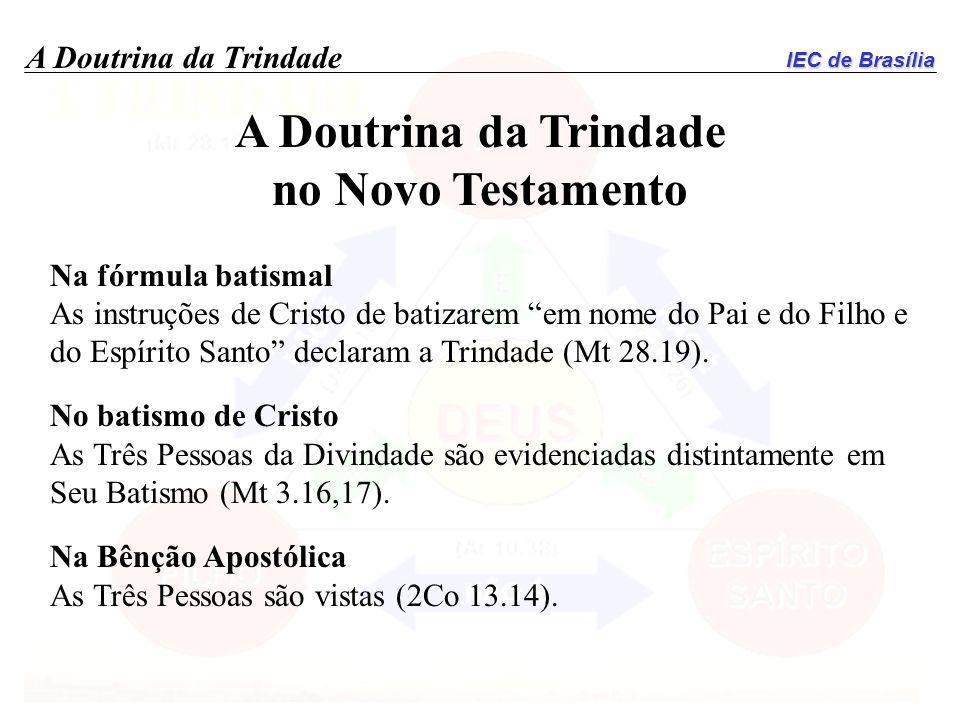 A Doutrina da Trindade no Novo Testamento