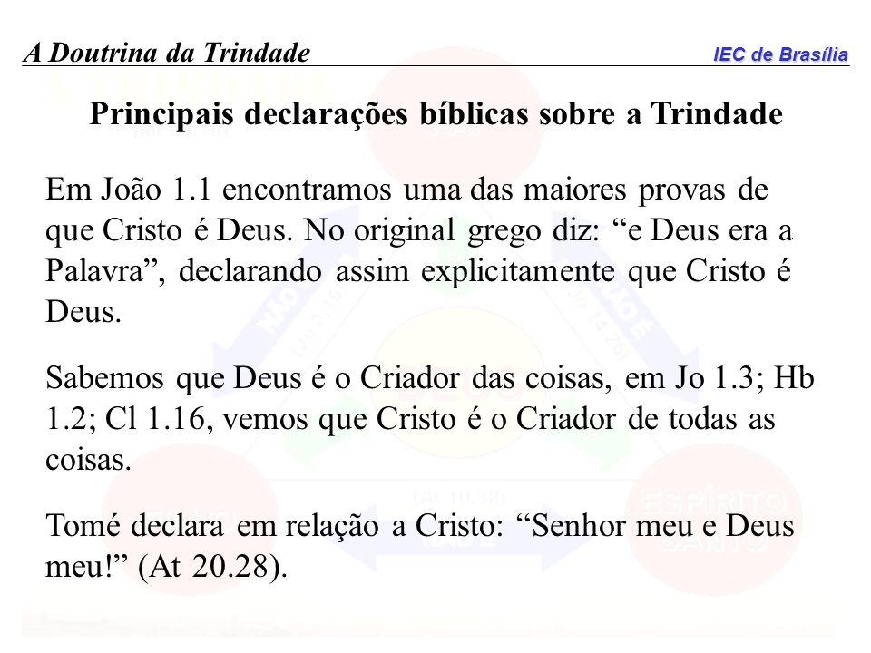 Principais declarações bíblicas sobre a Trindade