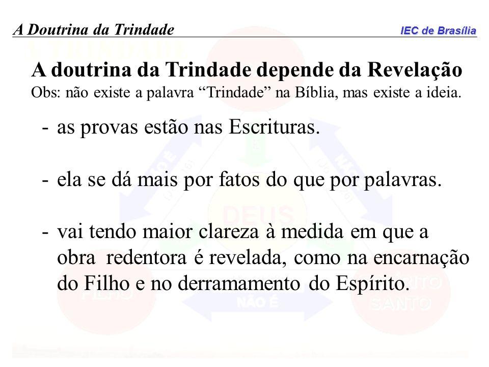 A doutrina da Trindade depende da Revelação