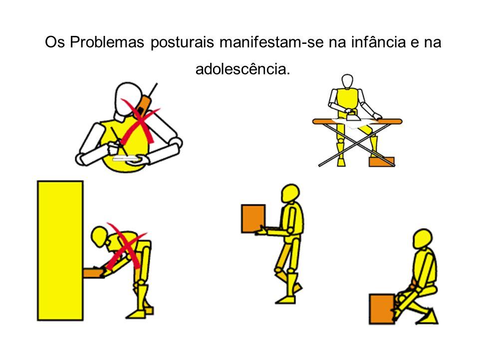 Os Problemas posturais manifestam-se na infância e na adolescência.