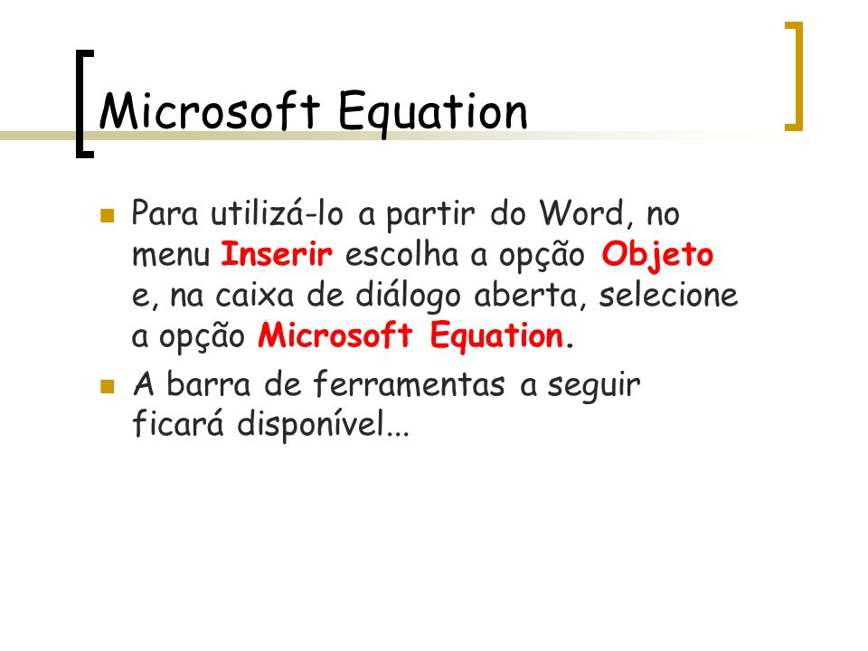 Microsoft Equation