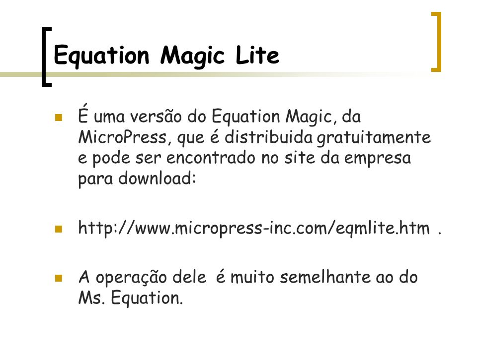 Equation Magic Lite
