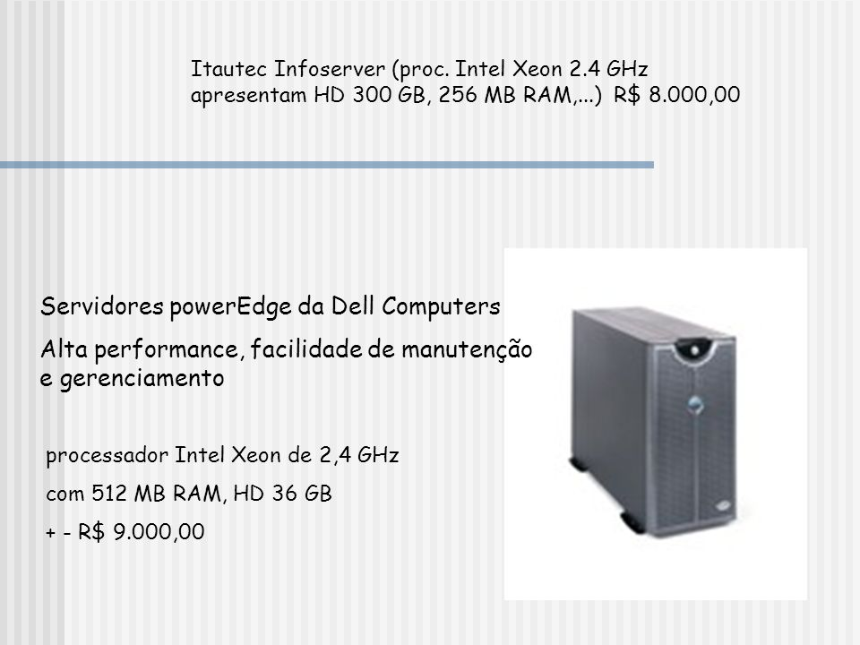 Servidores powerEdge da Dell Computers