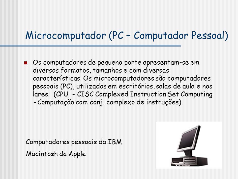 Microcomputador (PC – Computador Pessoal)