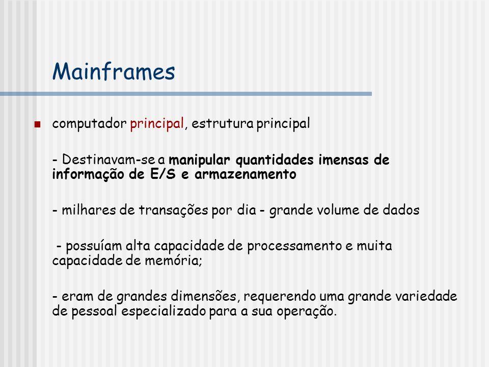 Mainframes computador principal, estrutura principal