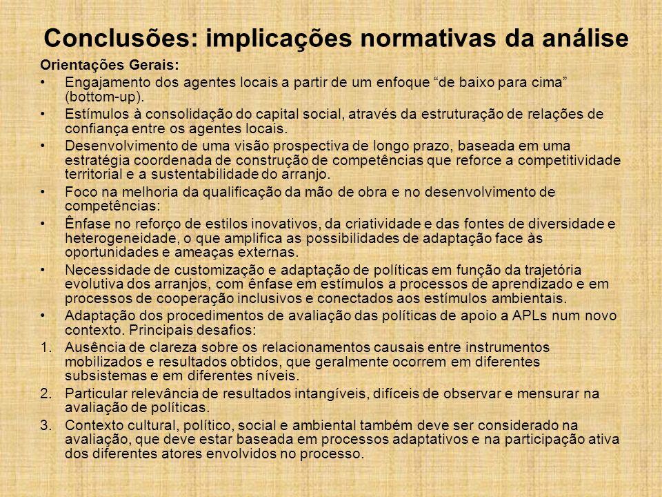 Conclusões: implicações normativas da análise