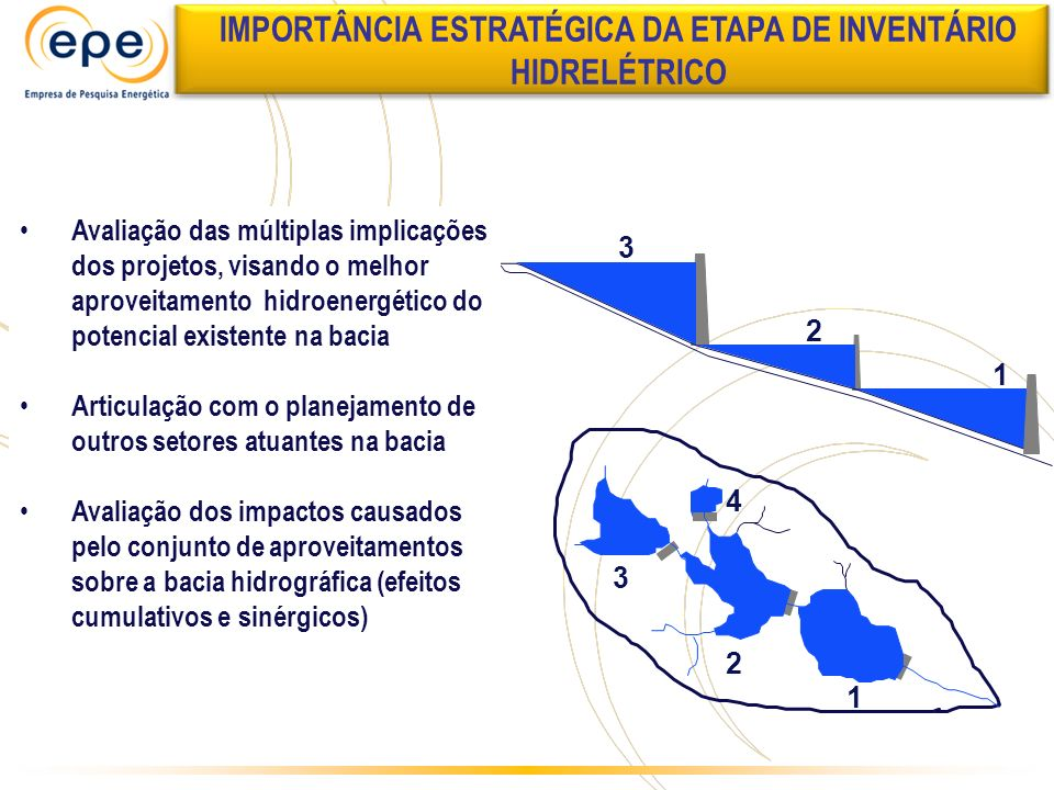 IMPORTÂNCIA ESTRATÉGICA DA ETAPA DE INVENTÁRIO HIDRELÉTRICO