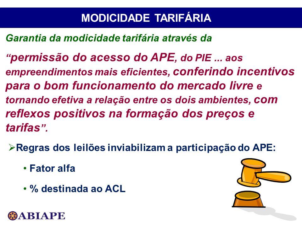 MODICIDADE TARIFÁRIA Garantia da modicidade tarifária através da