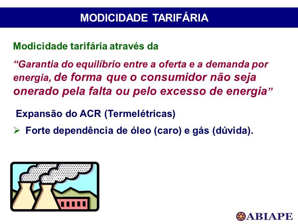 MODICIDADE TARIFÁRIA Modicidade tarifária através da