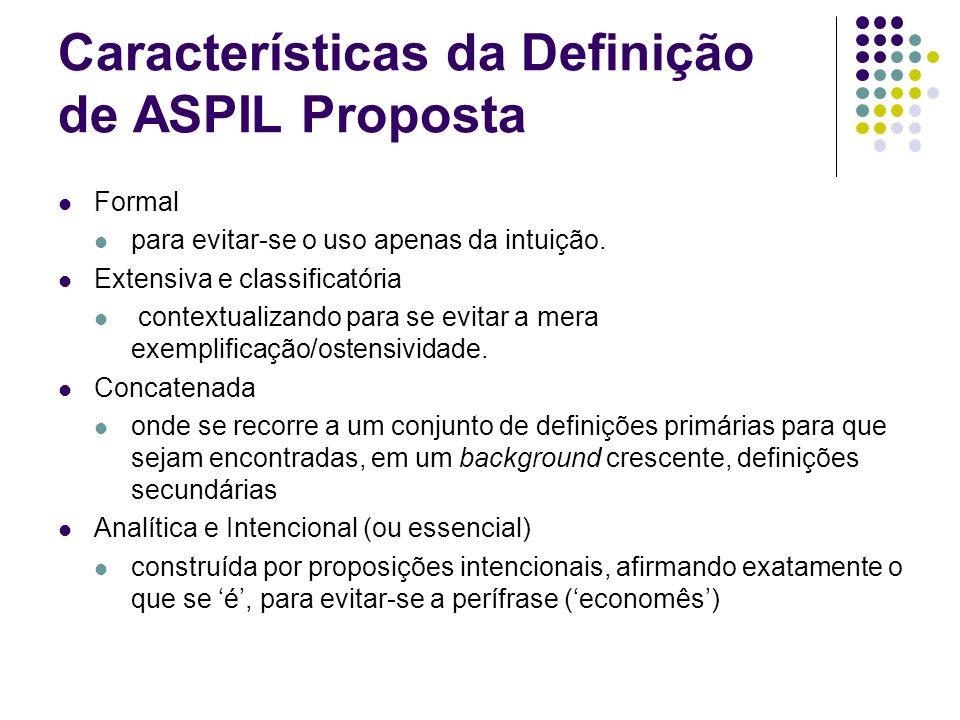 Características da Definição de ASPIL Proposta