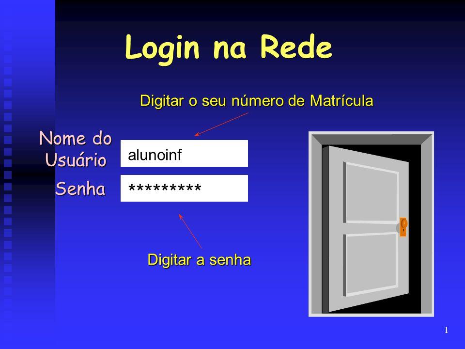Login na Rede ********* Nome do Usuário Senha