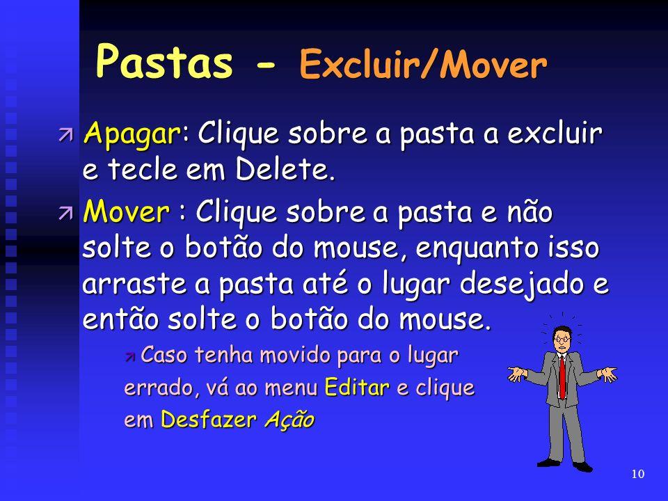 Pastas - Excluir/Mover