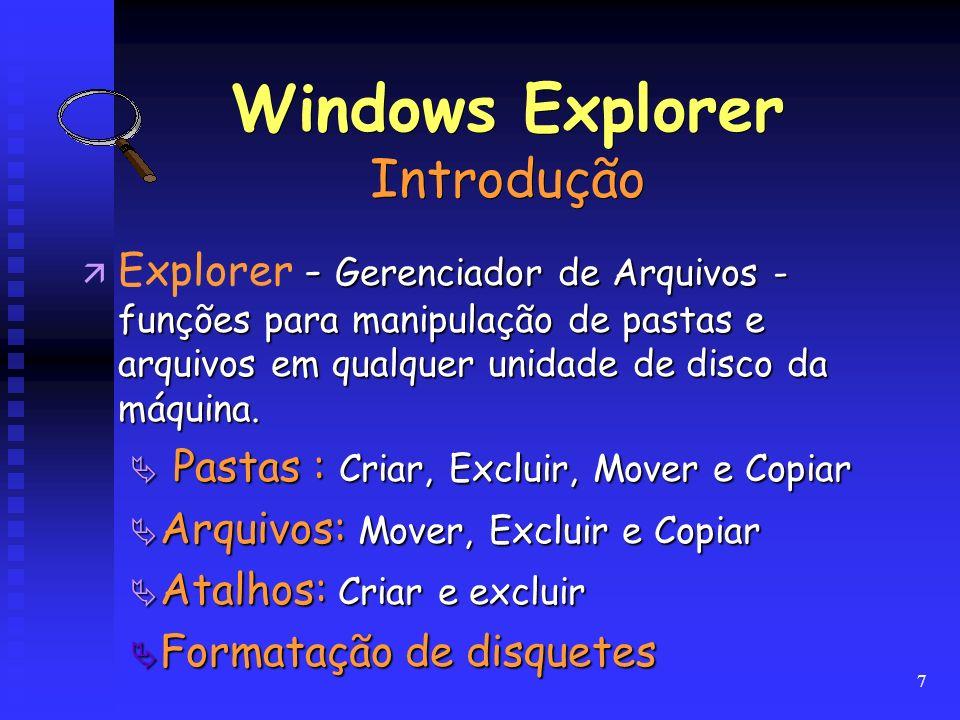 Windows Explorer Introdução