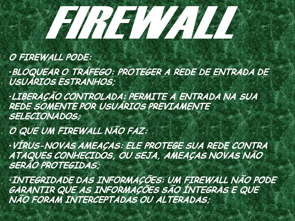 FIREWALL O FIREWALL PODE: