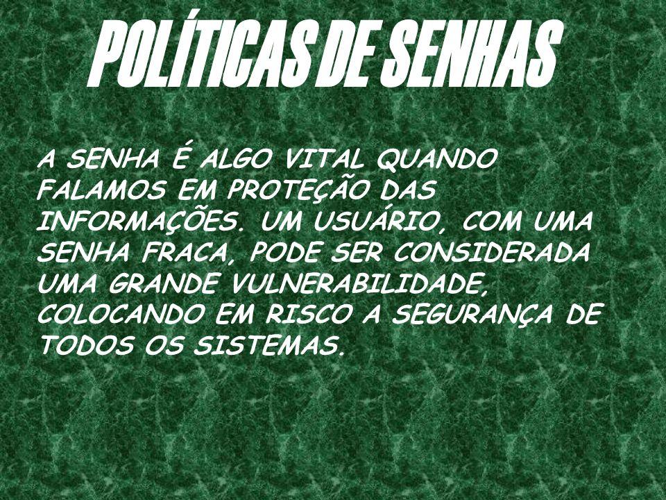 POLÍTICAS DE SENHAS
