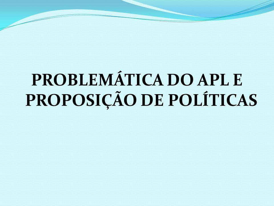 PROBLEMÁTICA DO APL E PROPOSIÇÃO DE POLÍTICAS