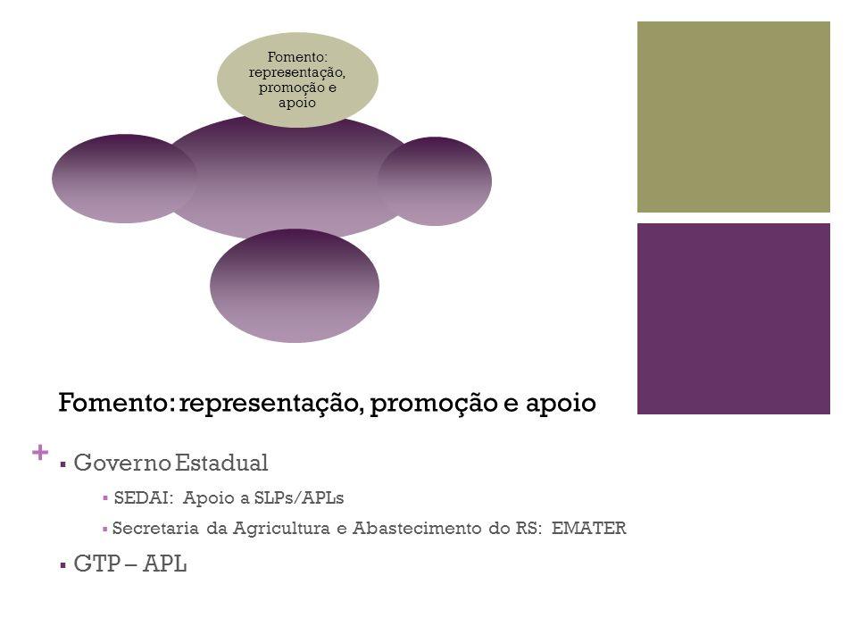 Fomento: representação, promoção e apoio