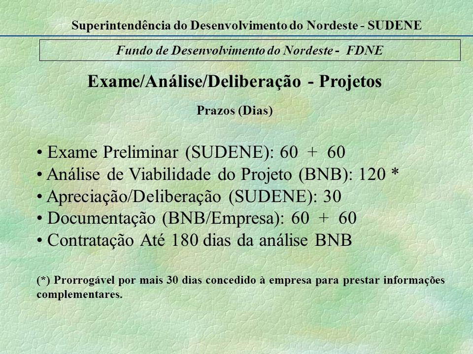 Exame/Análise/Deliberação - Projetos