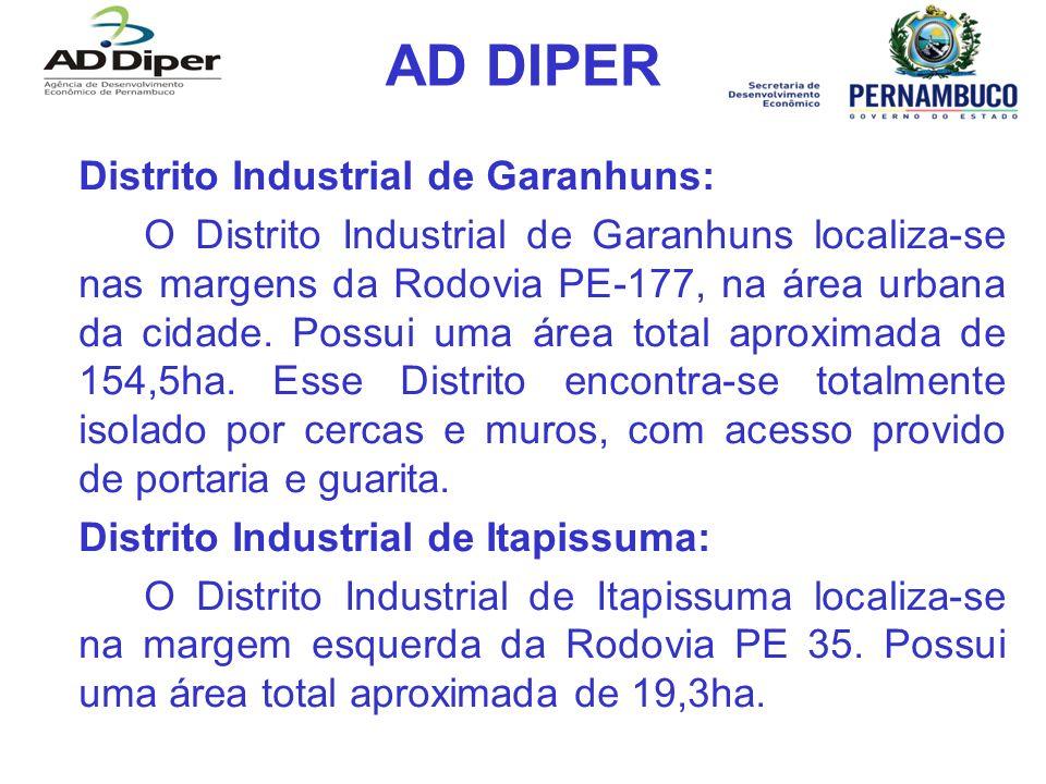 AD DIPER Distrito Industrial de Garanhuns: