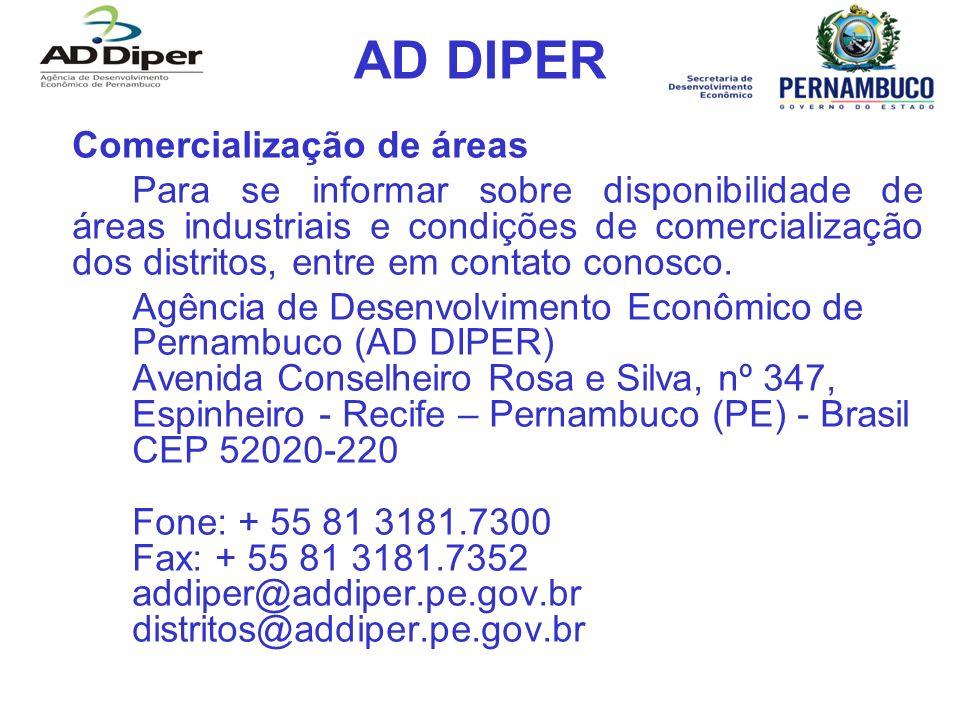AD DIPER Comercialização de áreas