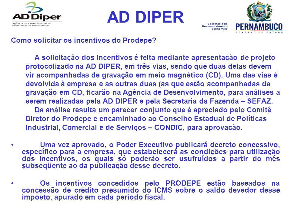 AD DIPER Como solicitar os incentivos do Prodepe