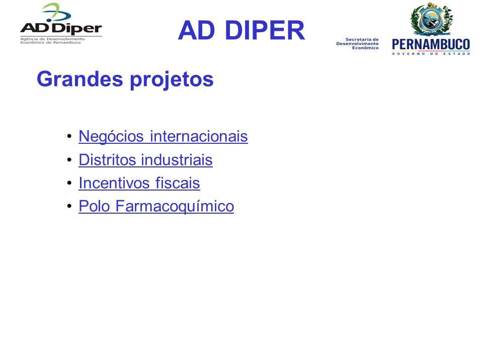 AD DIPER Grandes projetos Negócios internacionais
