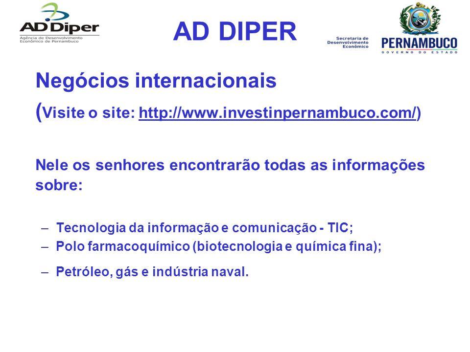 AD DIPER Negócios internacionais