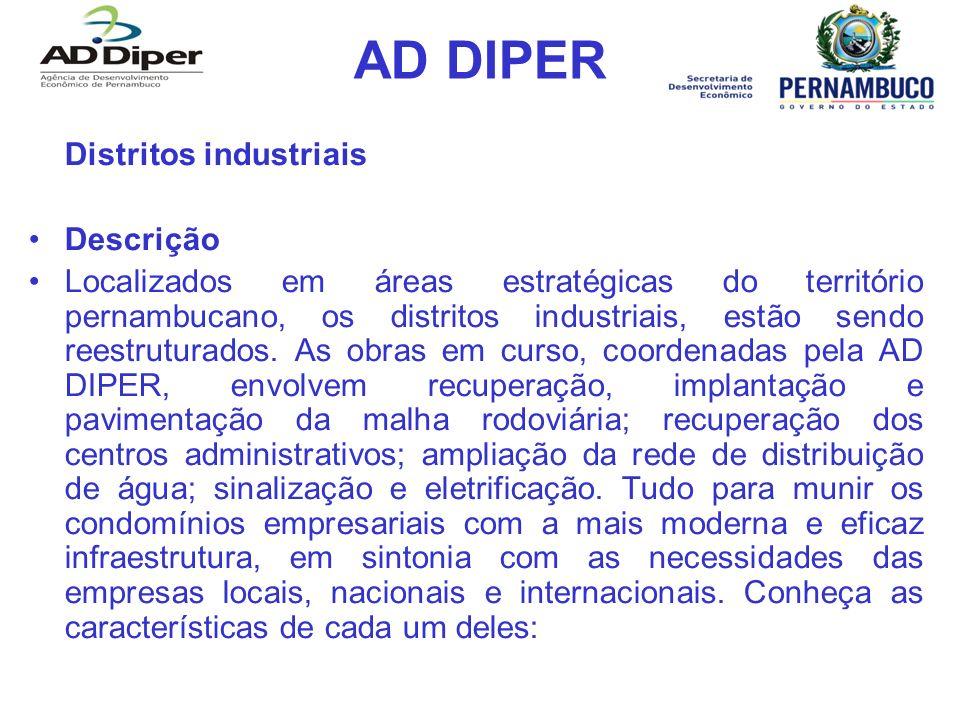 AD DIPER Distritos industriais Descrição