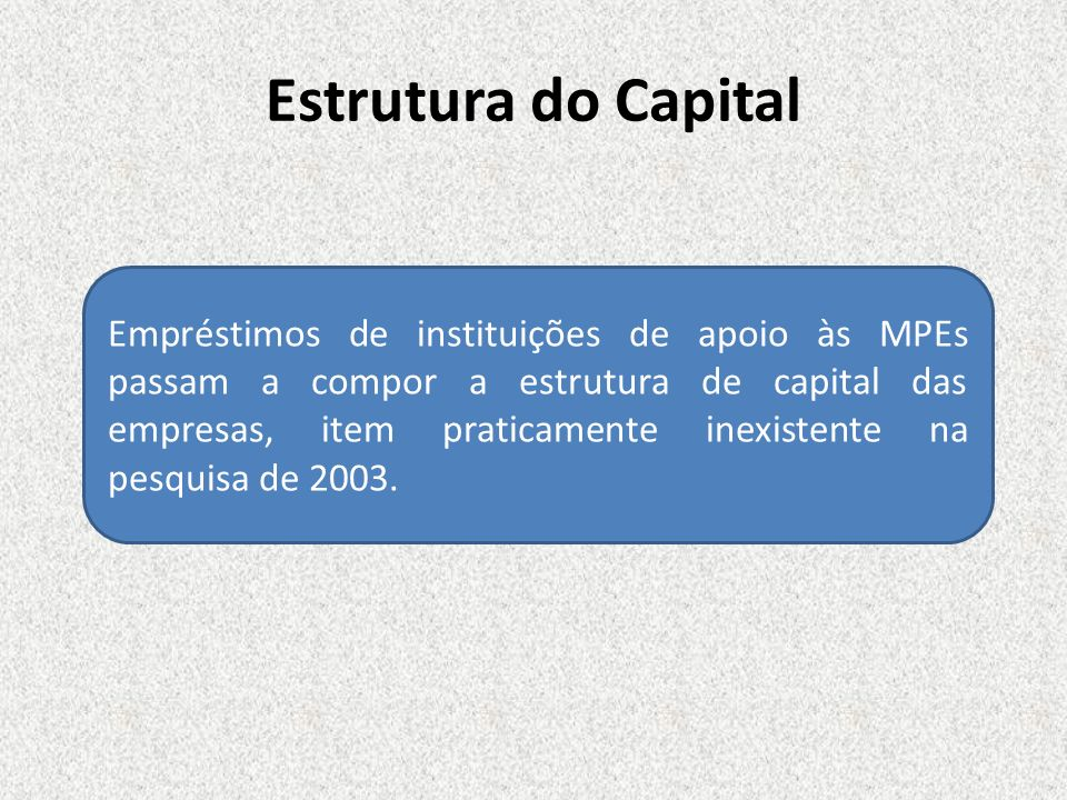 Estrutura do Capital