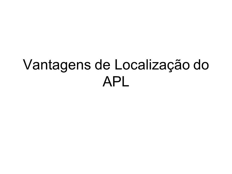 Vantagens de Localização do APL