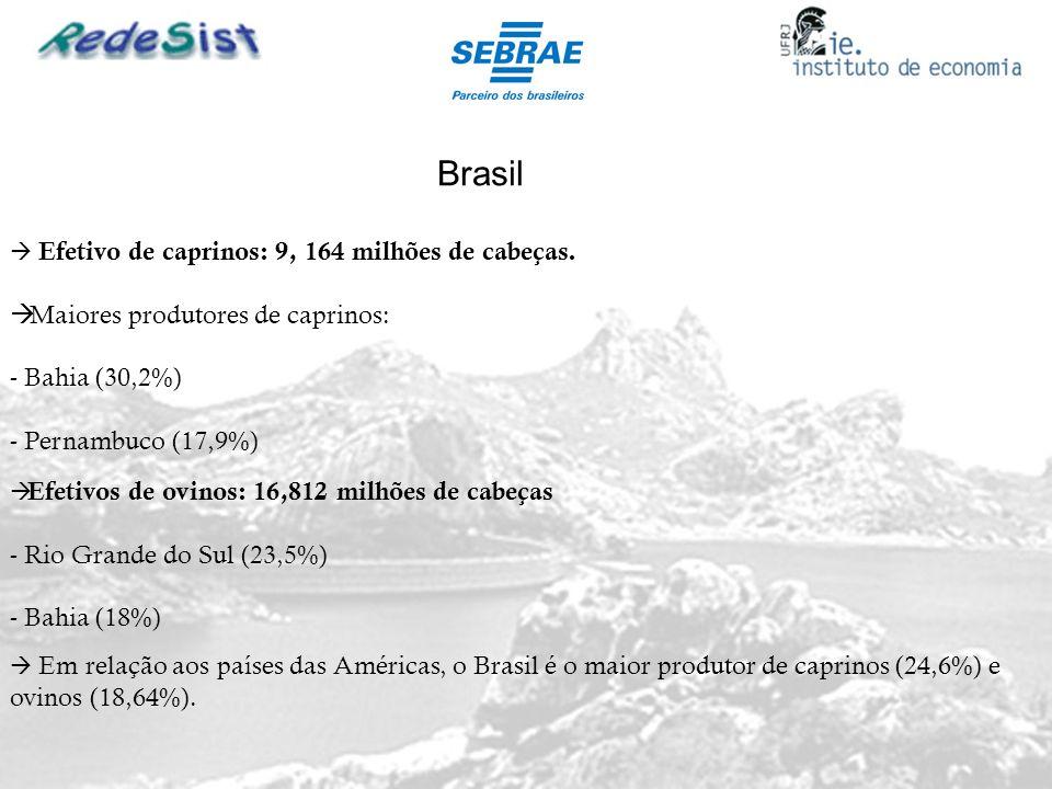 Brasil Maiores produtores de caprinos: Bahia (30,2%)