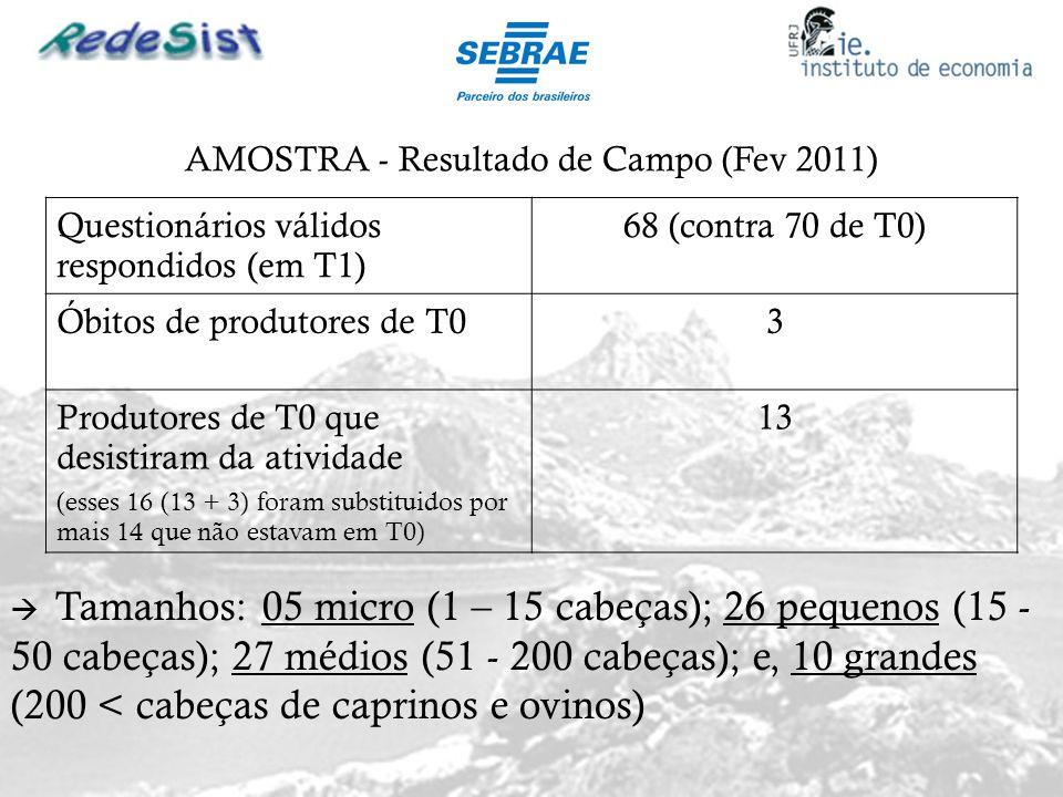 AMOSTRA - Resultado de Campo (Fev 2011)