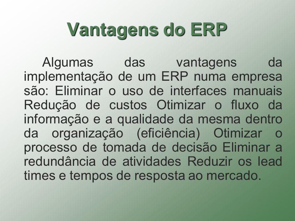 Vantagens do ERP