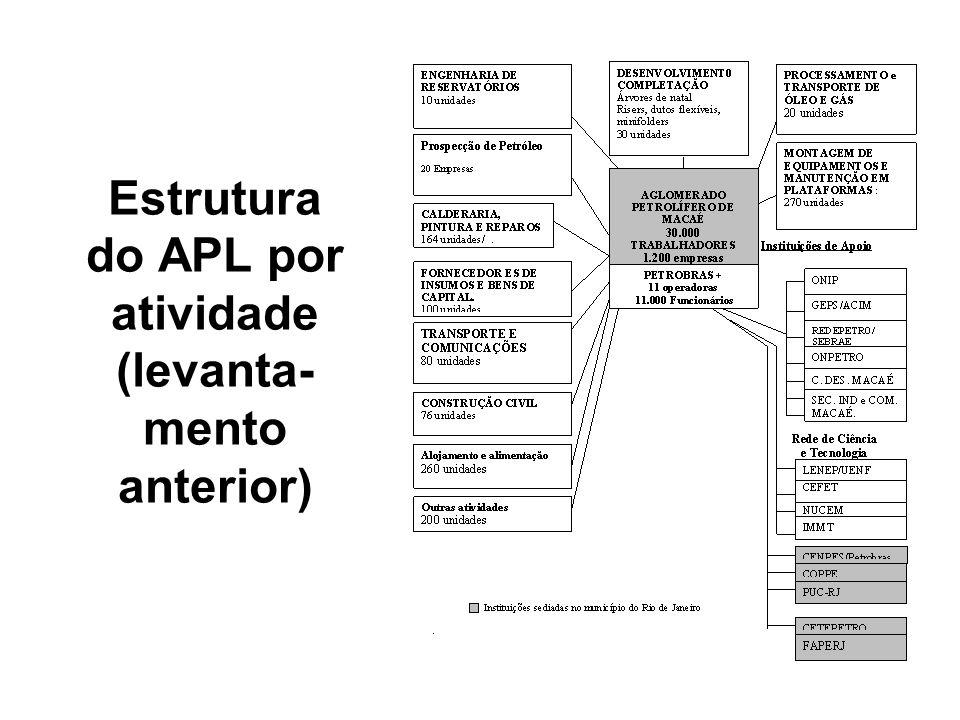 Estrutura do APL por atividade (levanta-mento anterior)