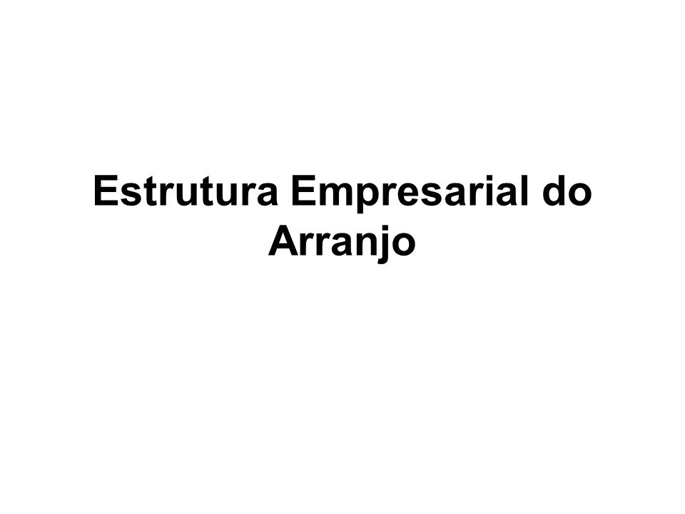 Estrutura Empresarial do Arranjo