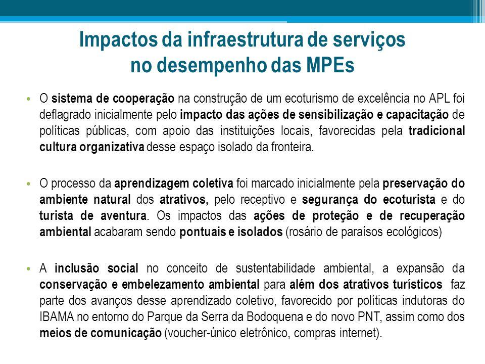 Impactos da infraestrutura de serviços no desempenho das MPEs