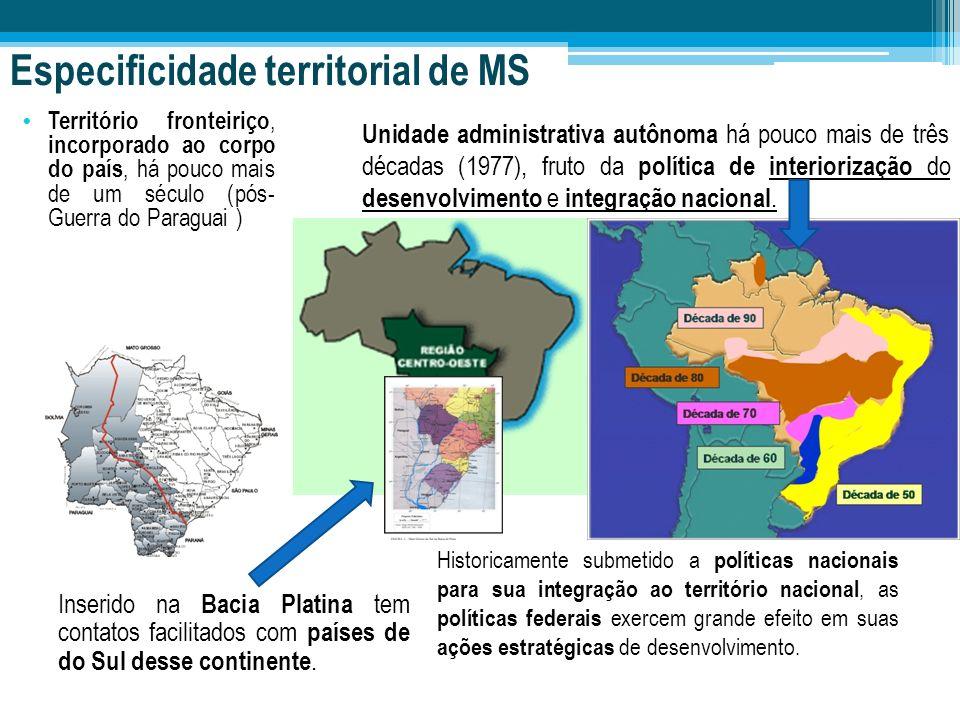 Especificidade territorial de MS