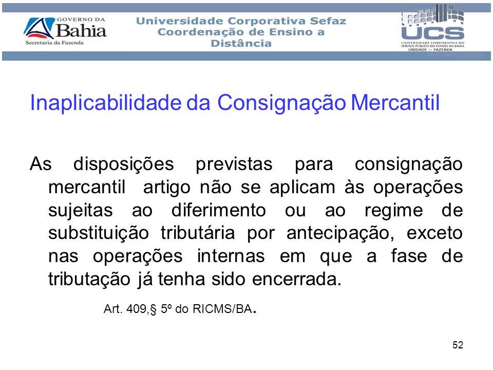 Inaplicabilidade da Consignação Mercantil
