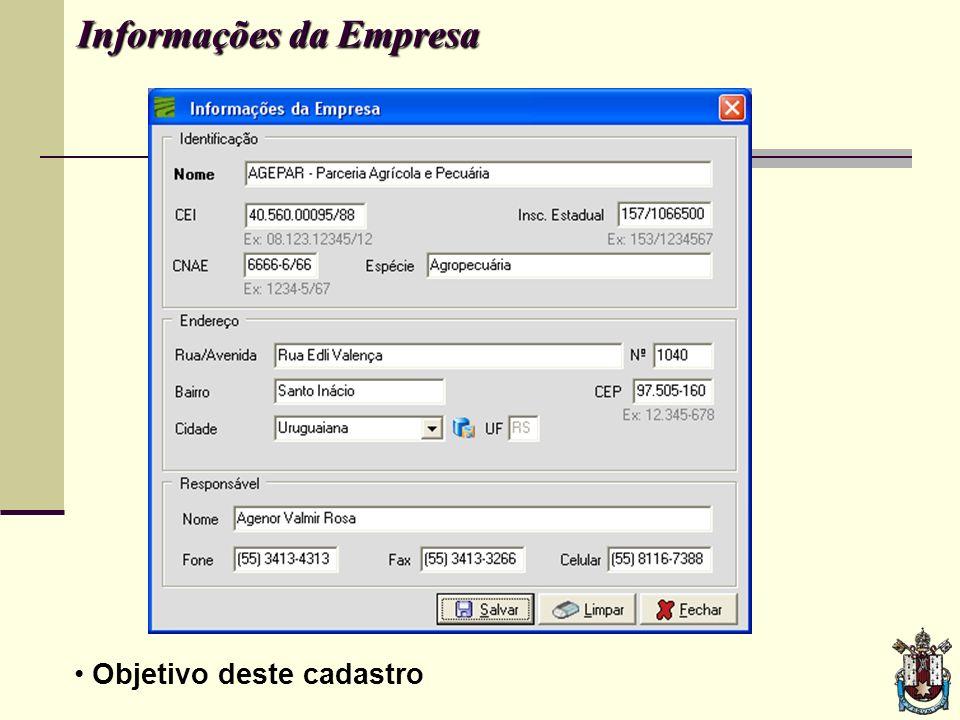 Informações da Empresa