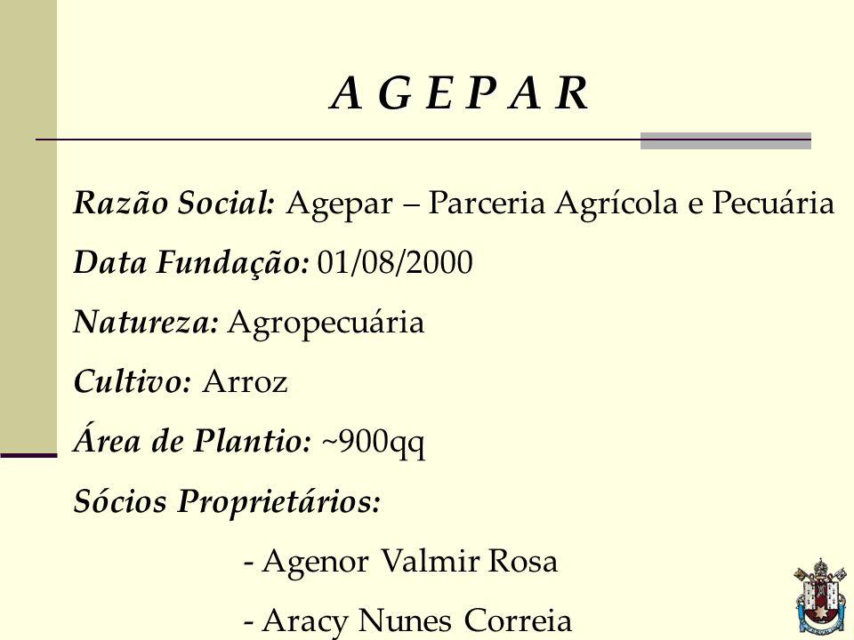 A G E P A R Razão Social: Agepar – Parceria Agrícola e Pecuária