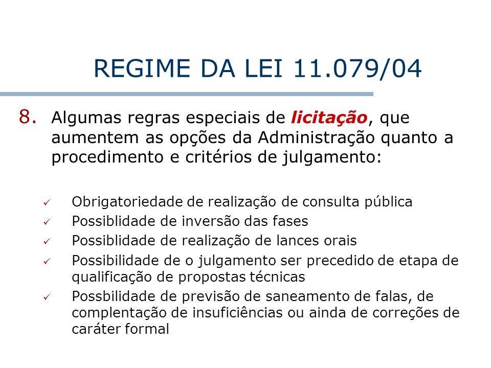 REGIME DA LEI 11.079/04