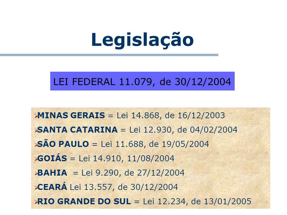 Legislação LEI FEDERAL 11.079, de 30/12/2004