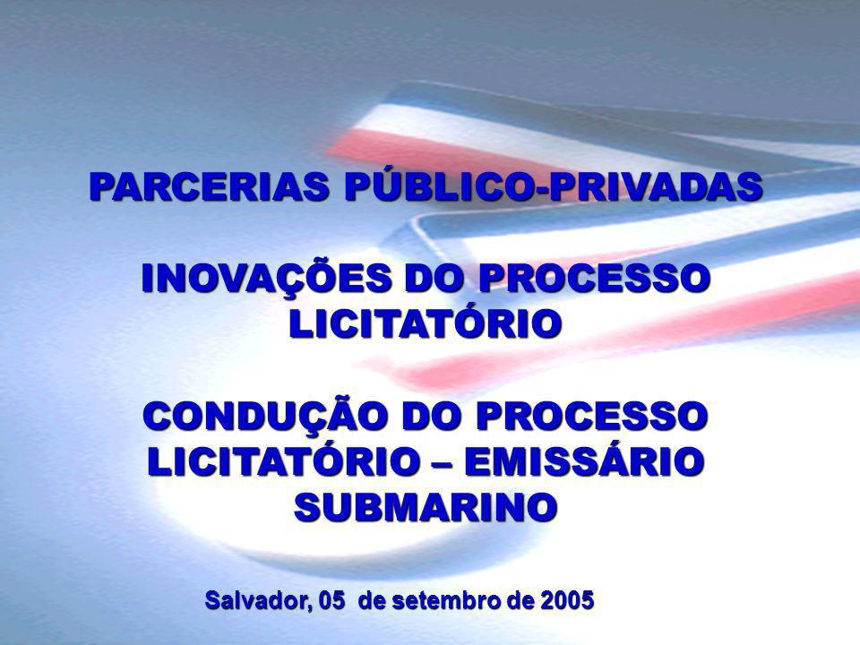 PARCERIAS PÚBLICO-PRIVADAS INOVAÇÕES DO PROCESSO LICITATÓRIO